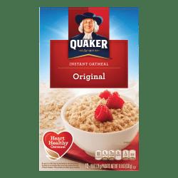 Quaker® Instant Oatmeal, Original, 0.98 Oz, Box Of 12