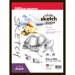 "Office Depot® Brand Sketch Pad, 9"" x 12"", 50 Lb, 50 Sheets"
