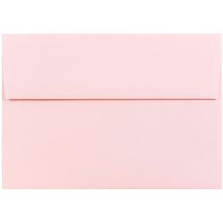 "JAM Paper® Booklet Invitation Envelopes, A7, 5 1/4"" x 7 1/4"", Light Baby Pink, Pack Of 25"