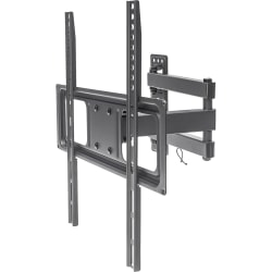 """Manhattan Universal Basic LCD Full-Motion Wall Mount - Holds One 32"""" to 55"""" Flat-Panel or Curved TV up to 77 lbs.; Adjustment Options to Tilt, Swivel and Level; Black"""
