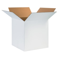24in(L) x 24in(W) x 24in(D) - Corrugated White Shipping Boxes