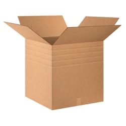 "Office Depot® Brand Multi-Depth Corrugated Boxes, 24"" x 24"" x 24"", Kraft, Bundle of 10"