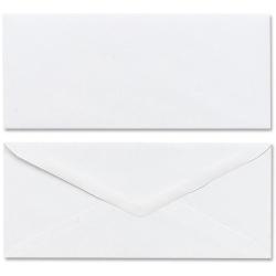 """Mead Plain White Envelopes - Business - #10 - 4 1/8"""" Width x 9 1/2"""" Length - Gummed - 50 / Box - White"""