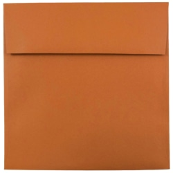 "JAM Paper® Color Square Invitation Envelopes, 8 1/2"" x 8 1/2"", Dark Orange, Pack Of 25"