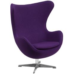 Flash Furniture Fabric Swivel Egg Chair With Tilt Lock, Purple/Gray