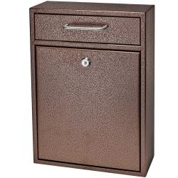 """Mail Boss Locking Security Drop Box, 16 1/4""""H x 11 1/4""""W x 4 3/4""""D, Bronze"""