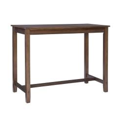 "Linon Walker Counter Pub Table, 36""H x 47-1/4""W x 23-3/4""D, Rustic"