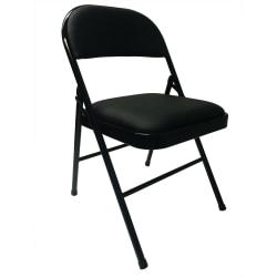 Realspace® Metal Folding Chair, Black