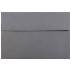 "JAM Paper® Booklet Invitation Envelopes, A8, 5 1/2"" x 8 1/8"", Dark Gray, Pack Of 25"