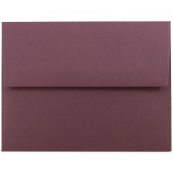 "JAM Paper® Booklet Invitation Envelopes, A2, 4 3/8"" x 5 3/4"", Burgundy, Pack Of 25"