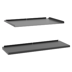 Basyx by HON® Manage Series Work Wall Kit, Ash Metallic
