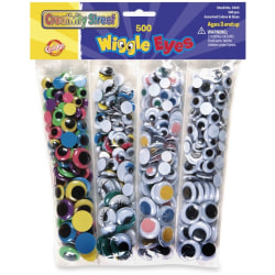 ChenilleKraft Wiggle Eyes Assortment, Pack Of 500