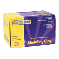 Creativity Street Modeling Dough, 1 Lb, Assorted Primary Colors, Pack Of 5