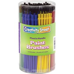 ChenilleKraft Classroom Brush Canister, Nylon, Multicolor, 144 Brushes