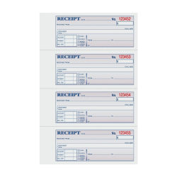 """TOPS™ Manifold Receipt Book, 3-Part, 7 5/8"""" x 11"""", White/Canary/Pink"""