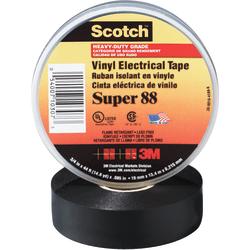 "3M™ Super 88 Electrical Tape, 1.5"" Core, 1.5"" x 44', Black, Pack Of 100"