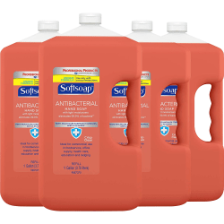 Softsoap® Antibacterial Hand Soap Refill, Orange, 1 Gallon, Pack Of 4