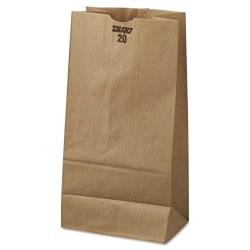 "General Paper Grocery Bags, #20, 20 Lb, 16 1/8""H x 8 1/4""W x 5 5/16""D, Kraft, Pack Of 500 Bags"