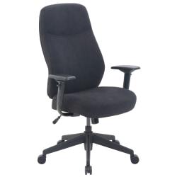 Serta® Commercial Motif Fabric Ergonomic High-Back Executive Chair, Black