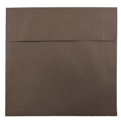 """JAM Paper® Color Square Invitation Envelopes, 8 1/2"""" x 8 1/2"""", 100% Recycled, Chocolate Brown, Pack Of 25"""