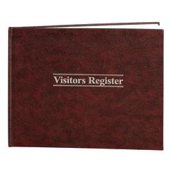 "Wilson Jones® Visitor Register, 11 1/2"" x 8 1/2"", Black/Red"