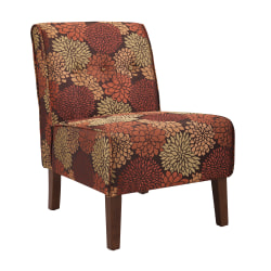Linon Home Décor Products Winston Accent Chair, Harvest/Dark Walnut