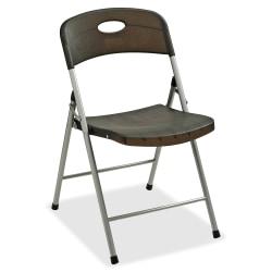Lorell® Translucent Folding Chairs, Smoke, Set Of 4 Chairs