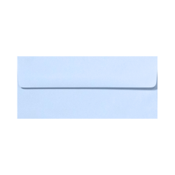 "LUX Envelopes With Peel & Press Closure, #10, 4 1/8"" x 9 1/2"", Baby Blue, Pack Of 500"