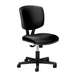 HON® Volt 5703 Bonded Leather Low-Back Chair, Black