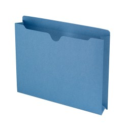 """Smead® Expanding Reinforced Top-Tab File Jackets, 2"""" Expansion, Letter Size, Blue, Box Of 50"""