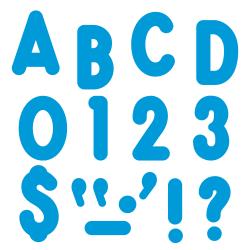 """TREND Ready Letters®, Billboard, 7"""", Blue, Pre-K - Grade 12, Pack Of 105"""