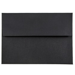 """JAM Paper® Booklet Invitation Envelopes (Recycled), A6, 4 3/4"""" x 6 1/2"""", 30% Recycled, Black, Pack Of 25"""