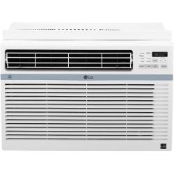 "LG Window-Mounted Air Conditioner, 8,000 BTU, 12 7/16""H x 19 5/8""W x 19 7/16""D, White"