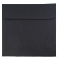 """JAM Paper® Square Linen Envelopes, #9, 9"""" x 9"""", Black, Pack Of 25"""