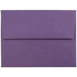 "JAM Paper® Booklet Invitation Envelopes, A2, 4 3/8"" x 5 3/4"", Dark Purple, Pack Of 25"