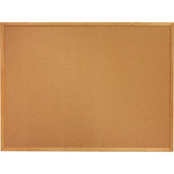"SKILCRAFT® Bulletin Board, Natural Finish Frame Cork, 18"" x 24"", Tan Finish Frame Oak Wood Frame (AbilityOne 7195 01 567 9519)"