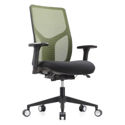 WorkPro® 4000 Series Mesh/Fabric High-Back Multifunction Ergonomic Chair, Olive/Black