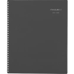 """AT-A-GLANCE® DayMinder Academic Weekly/Monthly Planner, 8-1/2"""" x 11"""", Charcoal, July 2021 To June 2022, AYC52045"""