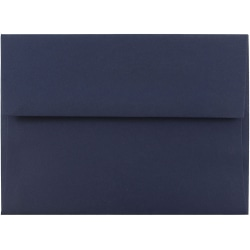 "JAM Paper® Booklet Invitation Envelopes, A6, 4 3/4"" x 6 1/2"", Navy Blue, Pack Of 25"