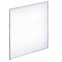 "Azar Displays Wall-Mount U-Frame Acrylic Sign Holders, 22"" x 17"", Clear, Pack Of 10"