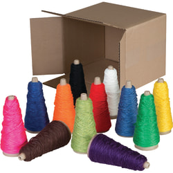 Pacon® Double-Weight Yarn Cones, Assorted, Box Of 12