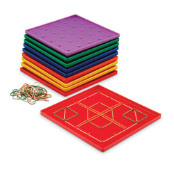 Learning Resources® Geoboard Classpack, Ages 5-12, Assorted Colors, Pack Of 10