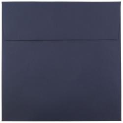 "JAM Paper® Color Square Invitation Envelopes, 8 1/2"" x 8 1/2"", Navy Blue, Pack Of 25"