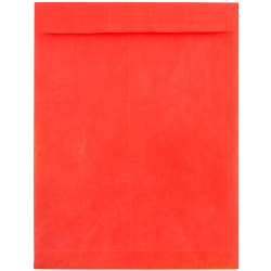 """JAM Paper® Tyvek® Open-End Catalog Envelopes, 10"""" x 13"""", Red, Pack Of 25"""