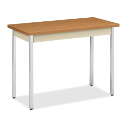 "HON® Utility Table, 40"" x 20"" x 29"", Harvest/Putty"
