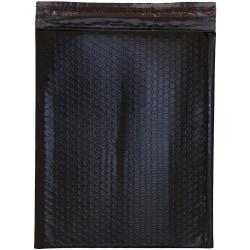"""JAM Paper® Open-End Bubble Envelopes, 10"""" x 13"""", Black, Pack Of 12"""