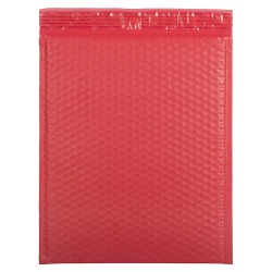 "JAM Paper® Bubble Envelopes, Catalog, Open End, 12"" x 15 1/2"", Red, Pack Of 12"