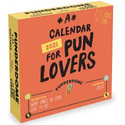 "TF Publishing Daily Desktop Box Calendar, 5-1/2"" x 5-1/2"", Pun Lovers, January To December 2021"