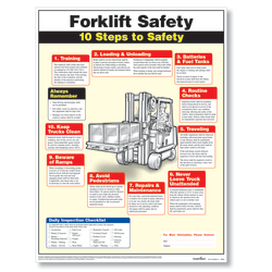 "ComplyRight™ Forklift Safety Poster, English, 18"" x 24"""