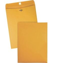 "Quality Park Clasp Envelope - Clasp -(9 1/2"" x 12 1/2"", 28 lb, Gummed, Kraft, Box Of 100"